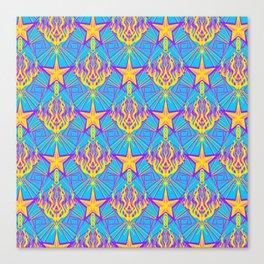 Starfire Kaleidoscope (Apollo Flame) Canvas Print