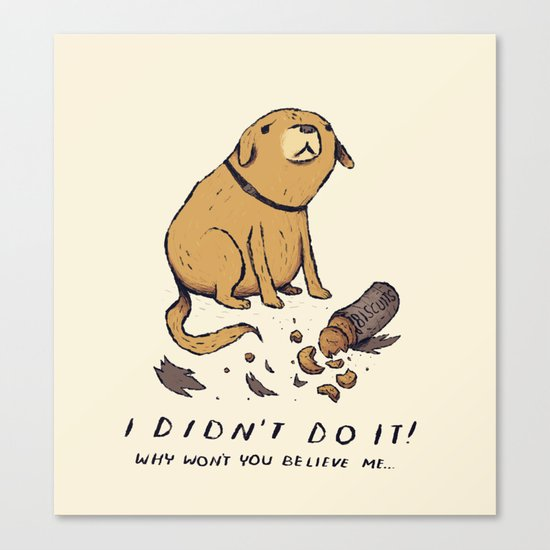 guilty dog Canvas Print