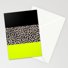 Leopard National Flag V Stationery Cards
