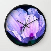 poppy Wall Clocks featuring Poppy by CrismanArt