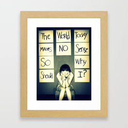 A picture is worth a thousand words.  Framed Art Print