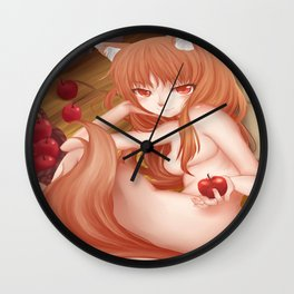 Holo Spice and Wolf Wall Clock