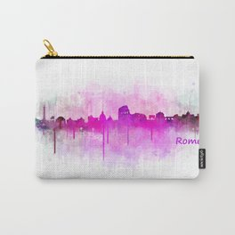 Rome city skyline HQ v05 pink Carry-All Pouch