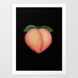Peach & Dark Choco Art Print