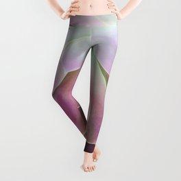 Acid Green and Pink Echeveria Leggings