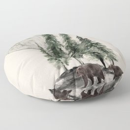 Full Moon Rising Floor Pillow