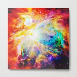 Orion nEbula : Bright & Colorful Metal Print