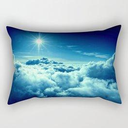 Sky Blue Clouds Rectangular Pillow