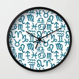 Zodiac signs background. Horoscope symbols. Astrology backgroundZodiac signs background. Horoscope s Wall Clock