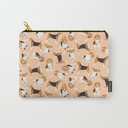 beagle scatter peach Carry-All Pouch