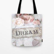 Shabby Chic Dream Roses Tote Bag