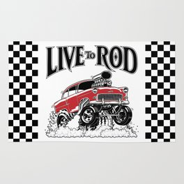 1955 CHEVY CLASSIC HOT ROD Rug