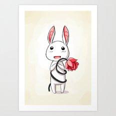 Bunny Flower Art Print