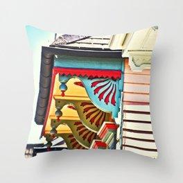 Shotgun House Trim Throw Pillow