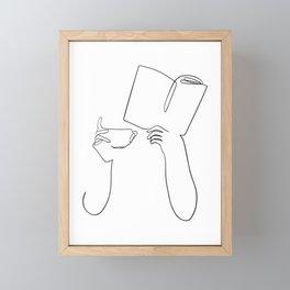 Book & Coffee Framed Mini Art Print