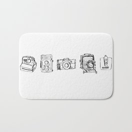 Vintage Camera Line Drawing Bath Mat