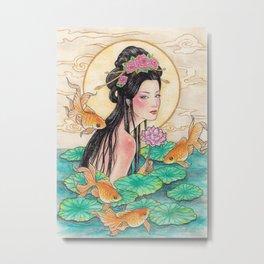 Goldfish Faie Metal Print