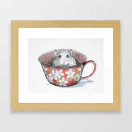Rat in a cup Framed Art Print