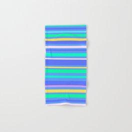 Aqua Stripes Hand & Bath Towel