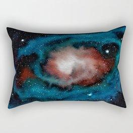 Spiral Galaxy watercolor illustration Rectangular Pillow