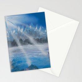 North Star Mountain Scene - Spray Paint Art Stationery Cards