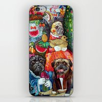 pugs iPhone & iPod Skins featuring PUGS by oxana zaika