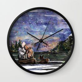Love, sky and mountains Wall Clock