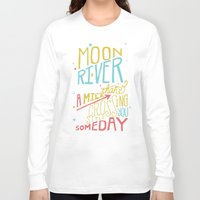 river song Long Sleeve T-shirts featuring MOON RIVER by Matthew Taylor Wilson