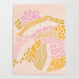 cacade, peach Poster