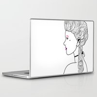 marie antoinette Laptop & iPad Skins featuring Marie Antoinette by Nicholas Darby