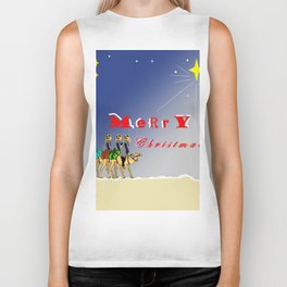 3 wise men gifting for christmas Biker Tank