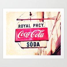 Royal Pharmacy Vintage Sign - New Orleans Art Print