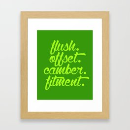 flush offset camber fitment v2 HQvector Framed Art Print