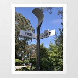 Corner of Haight and Ashbury in San Francisco Art Print