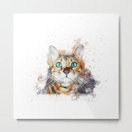 Glowing Cat Eyes Metal Print