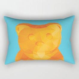 Gummy Bear Polygon Art Rectangular Pillow