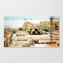 Man in the city Canvas Print