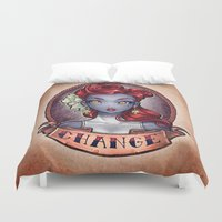 pinup Duvet Covers featuring CHANGE pinup by Tim Shumate