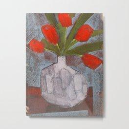 Red Tulips Still Life Metal Print