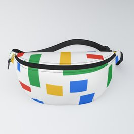 Abstract Google Art Red Green Blue Yellow on White Fanny Pack