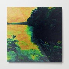 Lake at Sunset Metal Print