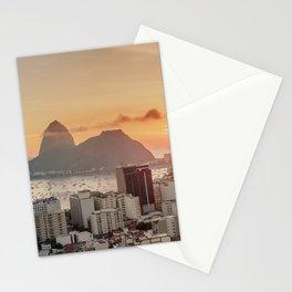 View over Botafogo towards the Sugarloaf Mountain at sunrise, Rio de Janeiro, Brazil Stationery Cards