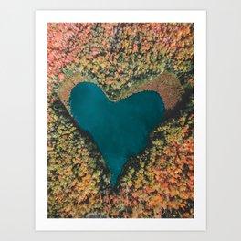Heart of the Woods Art Print