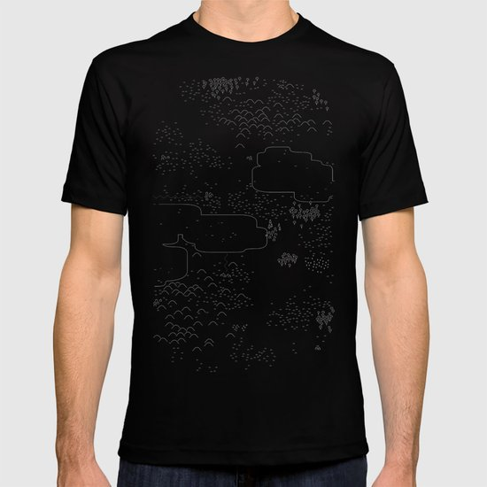 land of 15 towns and a cemetary · negative ⎌ T-shirt