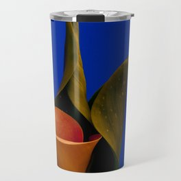Calla lily on blue Travel Mug