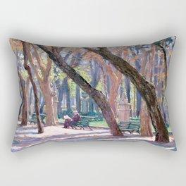 Winter in Rome, Italy — L Diane Johnson Rectangular Pillow