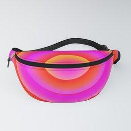 Warm circles & arcs Magenta Orange Red Fanny Pack