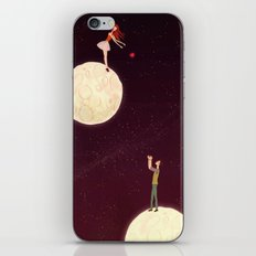 2 moons, a girl and a boy! iPhone & iPod Skin