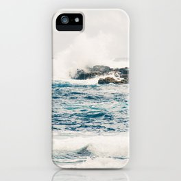 Rough Waters on the Coast of Maui iPhone Case
