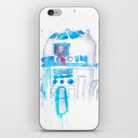 r2d2 iPhone & iPod Skins featuring R2D2 by sooarts